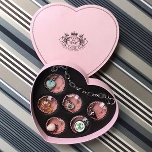 Juicy Couture Charm Bracelet Box Set with 6 Charms